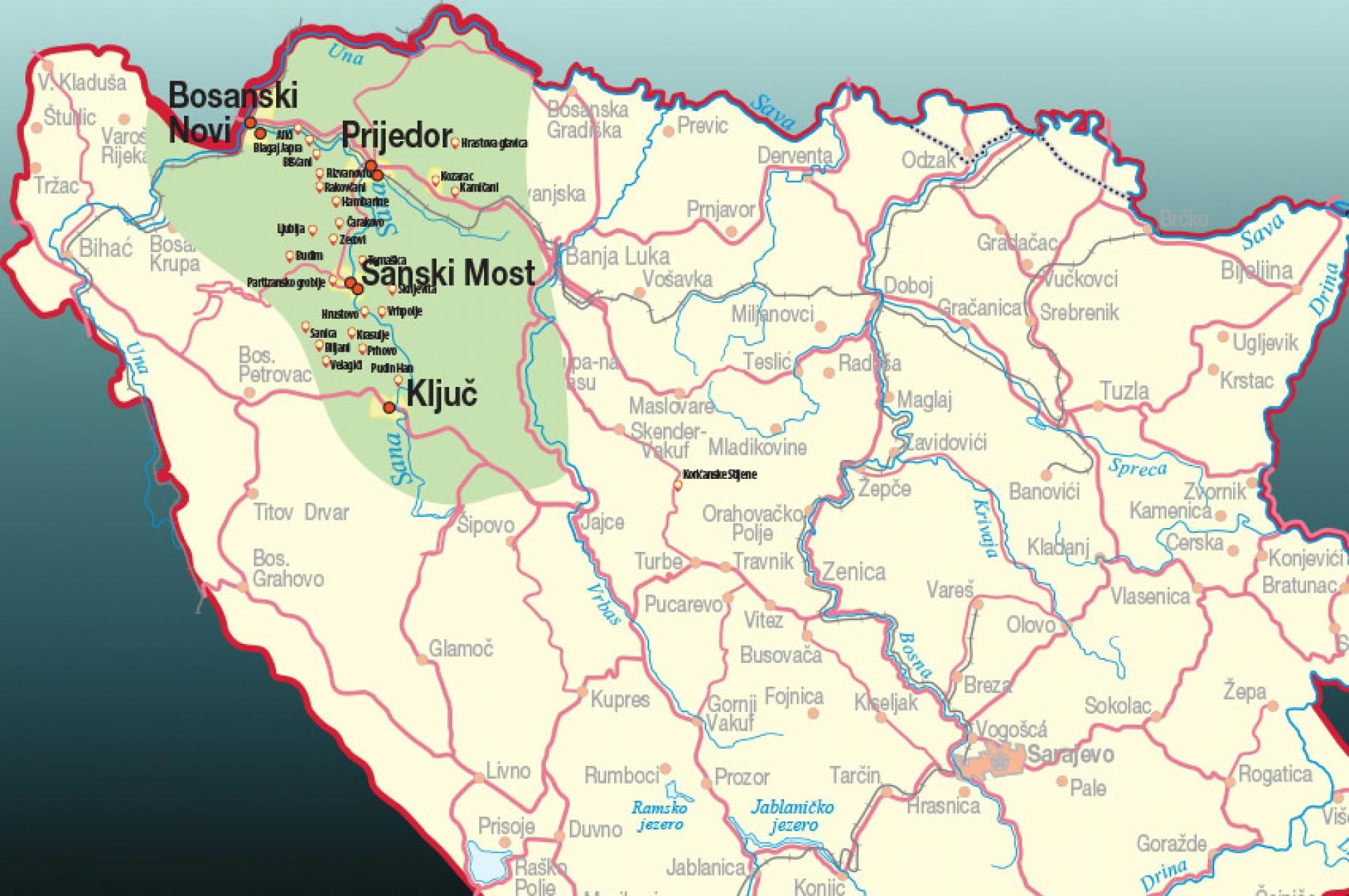 Zločini - Dolina Sane: Ključ, Sanski Most, Prijedor i Bosanski Novi
