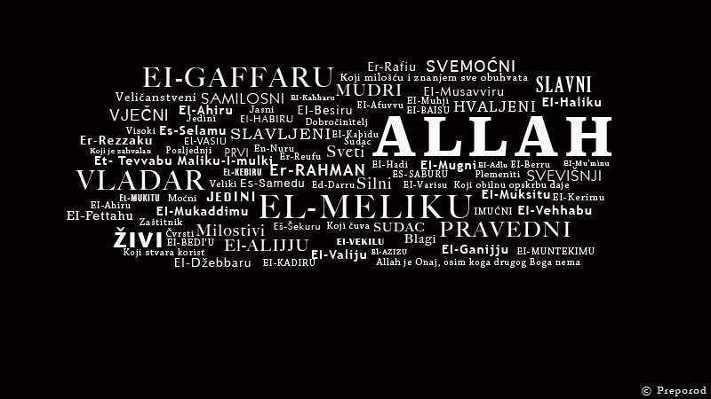 Ukratko o 100 Allahovih lijepih imena