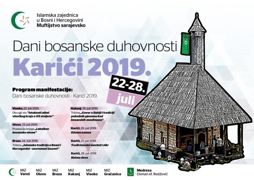 Karići 2019: Početak i raspored programa