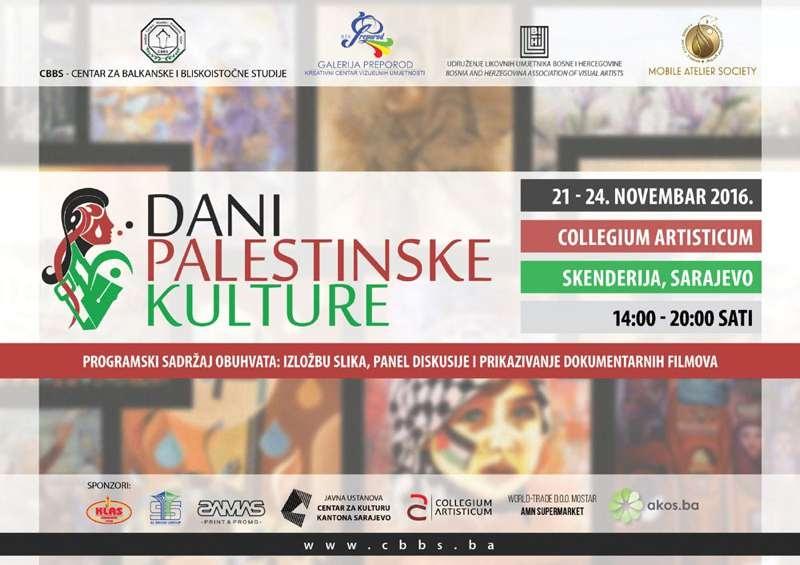 Dani palestinske kulture u BiH od 21. do 24. novembra